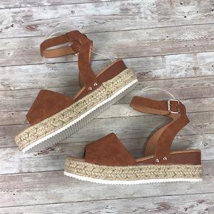 Shoes - Camel Espadrille Sandals